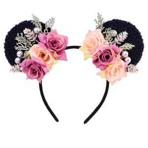 Minnie Mouse Floral Headband with Roses